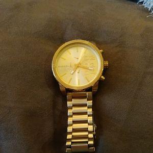 Gold 48mm Diesel watch